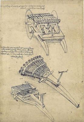 Leonardo Da Vinci 33 Barreled Organ